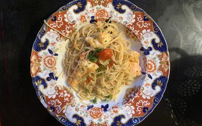 How to cook Lobster Spaghetti.